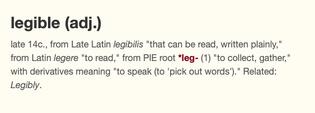 Legible etymology –Etymonline