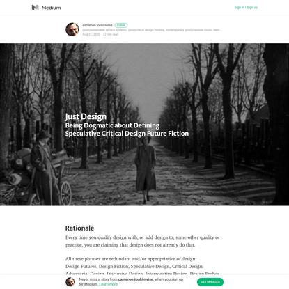 Just Design - cameron tonkinwise - Medium