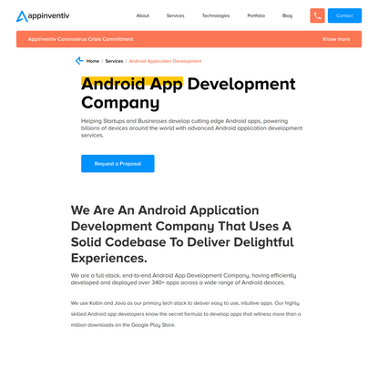 Android App Development company | Android App Developers New York, USA