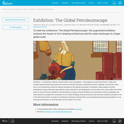 Exhibition: The Global Petroleumscape