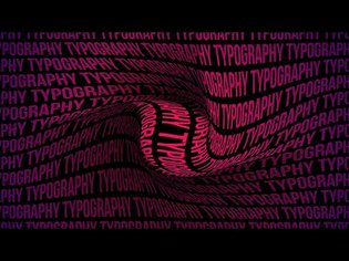 After Effects Tutorial - Twisted Typography Background Animation in After Effects - No Plugins