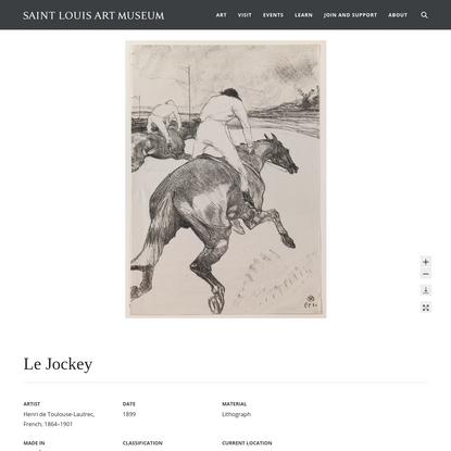 Le Jockey   Saint Louis Art Museum
