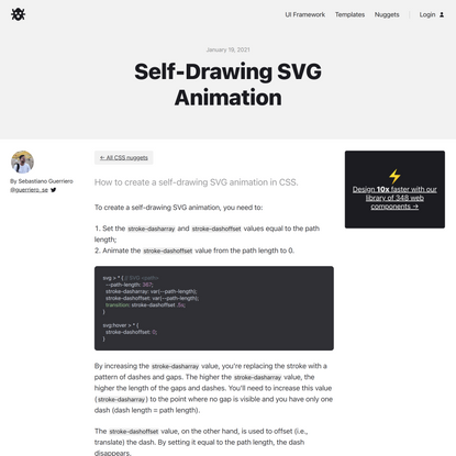 Self-Drawing SVG Animation | CodyHouse