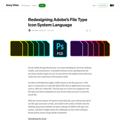 Redesigning Adobe's File Type Icon System Language