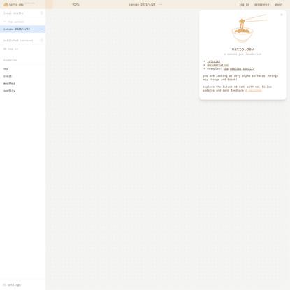 natto.dev | a canvas for JavaScript