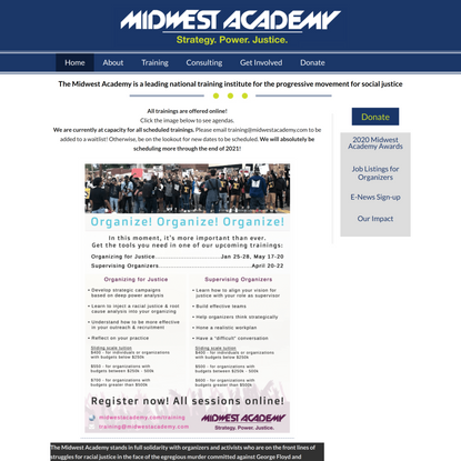 Midwest Academy · A leading national training institute for the progressive movement for social justice