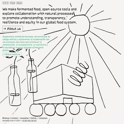 Domingo Club - Fermented food & open-source tools