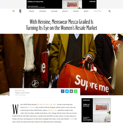 Grailed, a Hypebeast Mecca, Is Now Catering to Hypebaes with a New Shopping Site