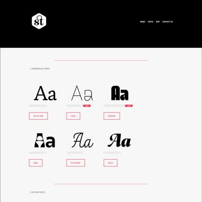 Fonts — sumotype