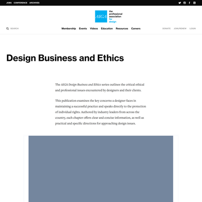 Design Business and Ethics