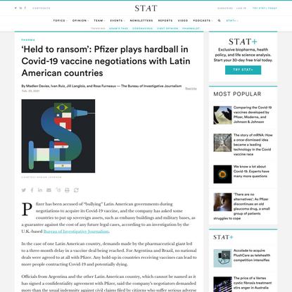 Pfizer plays hardball in Covid-19 vaccine negotiations - STAT