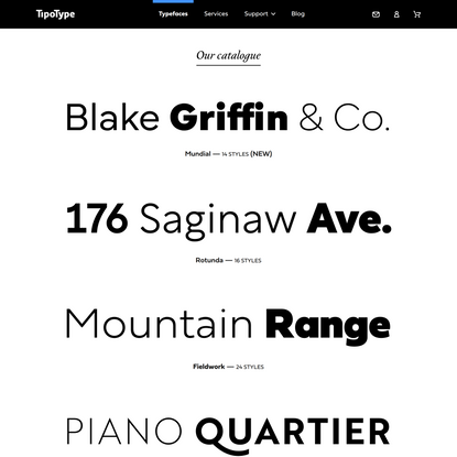 Catalogue – TipoType