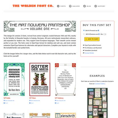 The Art Nouveau Printshop Vol. 1
