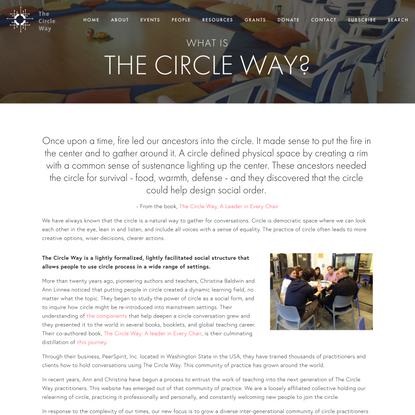 The Circle Way — The Circle Way
