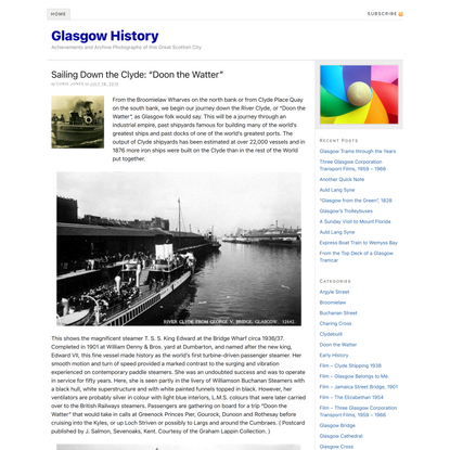 Sailing Down the Clyde: Doon the Watter | Glasgow History