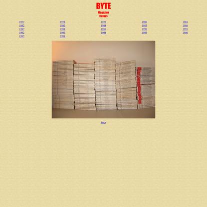 BYTE Magazine Covers