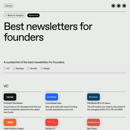Best newsletters for founders