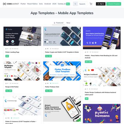 Codemarket • App Templates - Mobile App Templates