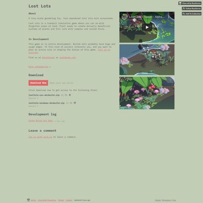 Lost Lots by Rustforms