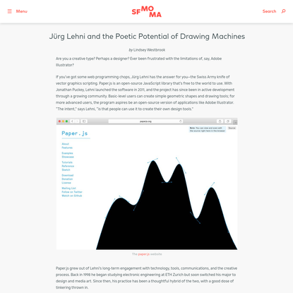 Jürg Lehni and the Poetic Potential of Drawing Machines