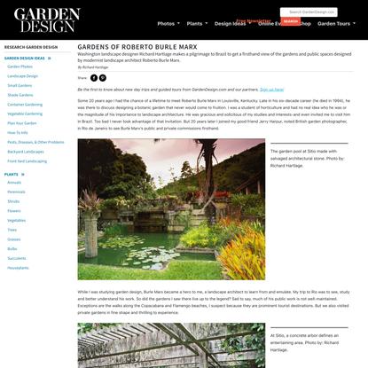 Gardens of Roberto Burle Marx - Garden Design