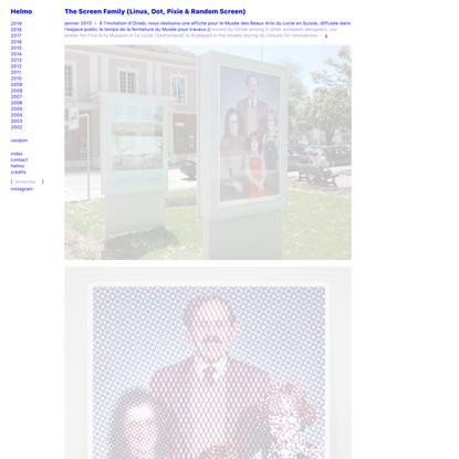The Screen Family (Linus, Dot, Pixie & Random Screen)   Helmo