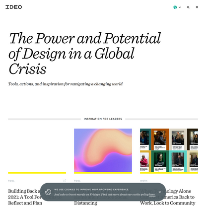 The Power and Potential of Design in a Global Crisis