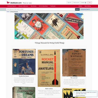 Vintage Manuals - AbeBooks.com