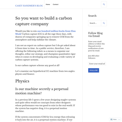 So you want to build a carbon capture company