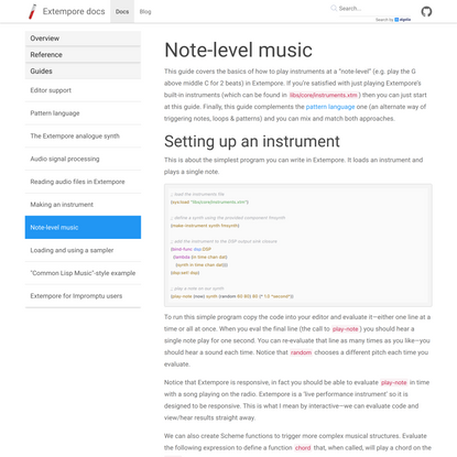 Note-level music