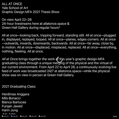 ALL AT ONCE - YALE GD′21
