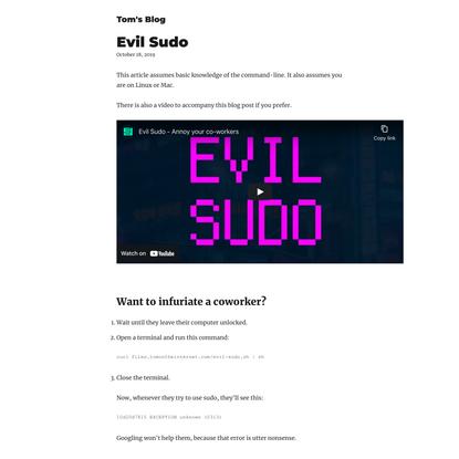 Evil Sudo
