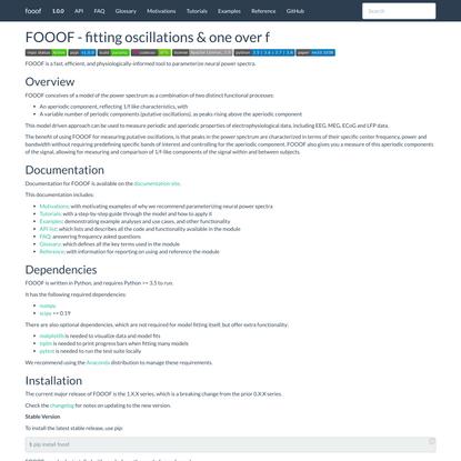 FOOOF - fitting oscillations & one over f — fooof 1.0.0 documentation