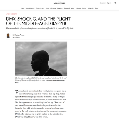 DMX, Shock G, and the Plight of the Middle-Aged Rapper