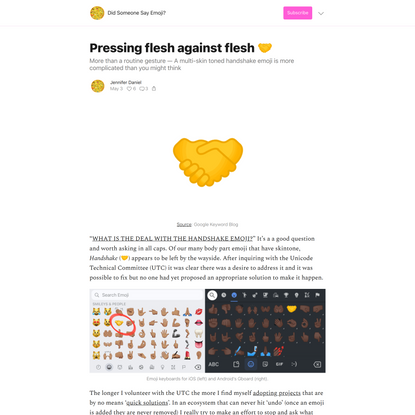 Pressing flesh against flesh 🤝