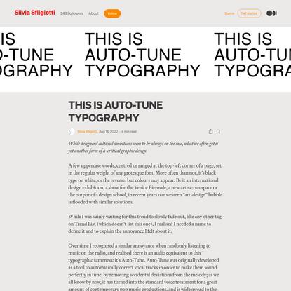 THIS IS AUTO-TUNE TYPOGRAPHY