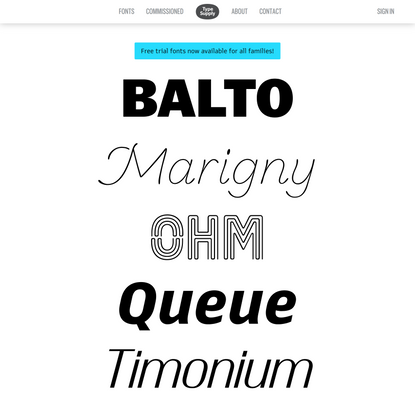 Fonts | Type Supply