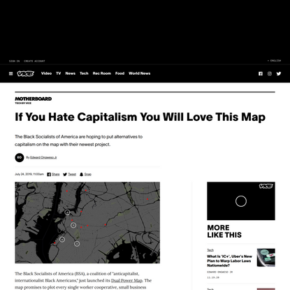 If You Hate Capitalism You Will Love This Map