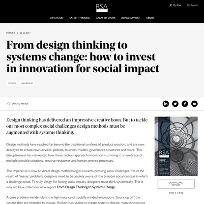 From design thinking to systems change