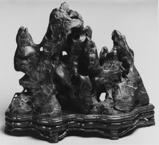Gongshi, Scholar's Rock, Rock In The Form of a Fantastic Mountain, Black Lingbi limestone, unknown date