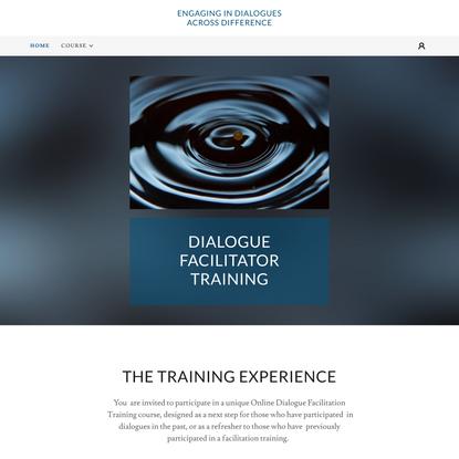 Dialogue Facilitator Training