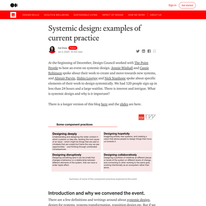 Systemic design: examples of current practice