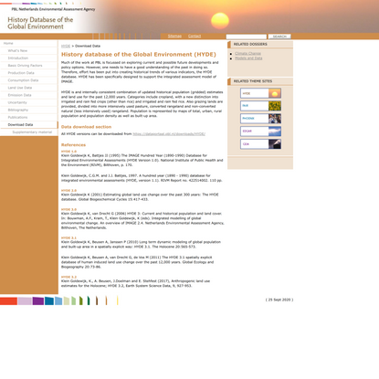 Download Data - the Netherlands Environmental Assessment Agency (PBL)