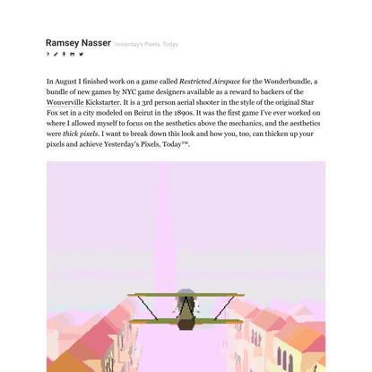 Ramsey Nasser —Yesterday's Pixels, Today