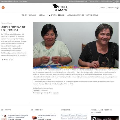 Arpilleristas de Lo Hermida – Chile a Mano