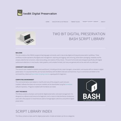 twoBit Script Library — twoBit Preservation