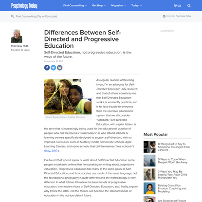 Differences Between Self-Directed and Progressive Education