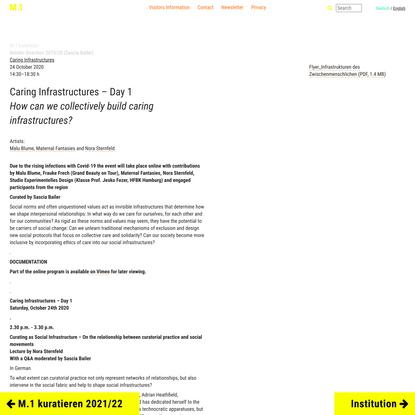 Caring Infrastructures M.1 Hohenlockstedt / Arthur Boskamp-Foundation