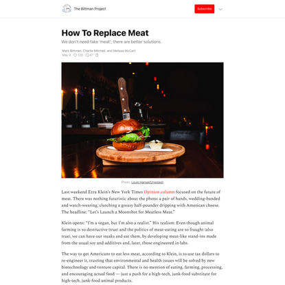 How To Replace Meat