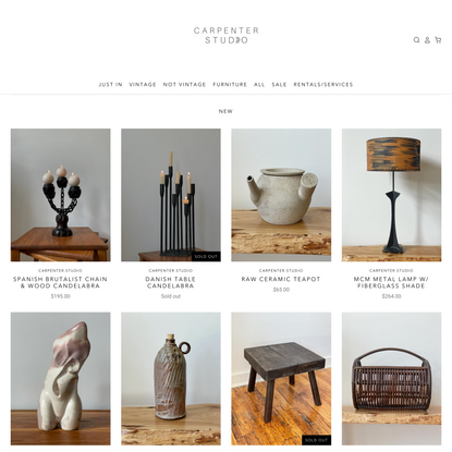 A collection on vintage and sustainably sourced goods handpicked!